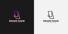 Initial J Letter Logo With Line Concept In Colorful Gradient For Your Business Identity