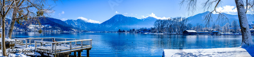 landscape at the Tegernsee lake - Bad Wiessee Fototapet