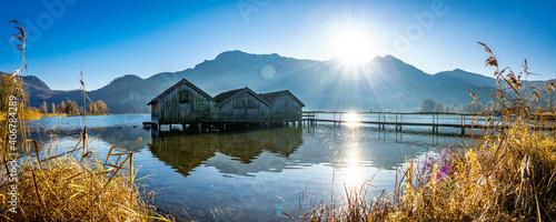Foto old hut at the kochel lake - bavaria