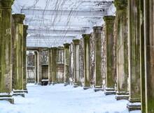 Antique Pergola In The Winter Catherine Park In Tsarskoe Selo