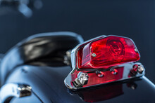 Motorcycle Rear Light In Red With Skulls