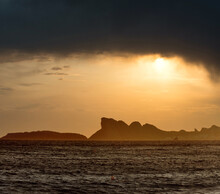 Dramatic Sunset On A Beach Of La Ciotat