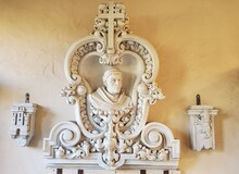 Bust In Architectural Carving
