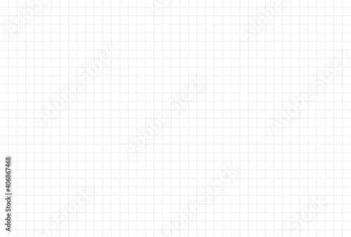 Obraz 方眼紙のような薄いグレーのグリッド入りのシンプルなモノトーン背景素材・細線 - fototapety do salonu
