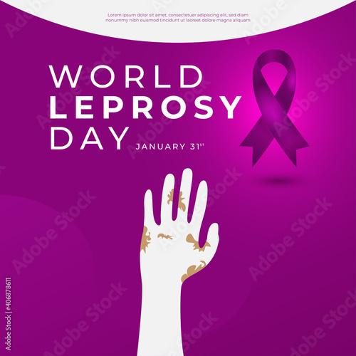 Obraz na plátně International leprosy day greeting card design