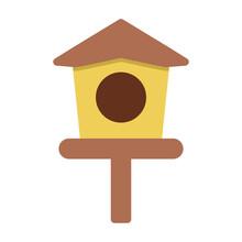 Bird House Icon Logo Illustration Vector Isolated. Spring Season Icon. Suitable For Web Design, Logo, App, And UI.