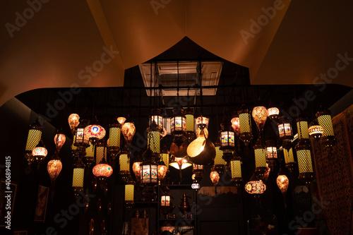 Carta da parati Colorful lamp on celebration festival