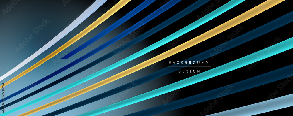 Fototapeta Abstract colorful lines vector background. Internet, big data and technology connections concept, abstract template