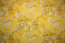 Moscow, Russia - 01.19.2021: Almond Blossoms On Yellow Background (based On Painting Of Vincent Willem Van Gogh).