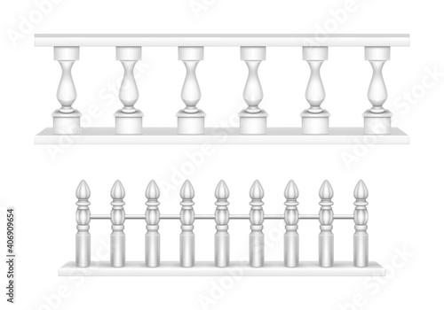 Tela Marble balustrade, balcony railing or handrails.