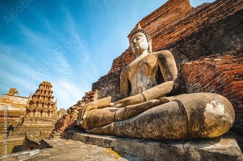 Fotografie, Obraz ancient buddha old statue