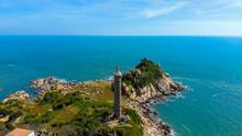 Ke Ga Beach At Mui Ne, Phan Thiet, Binh Thuan, Vietnam. Ke Ga Cape Or Lighthouse Is The Most Favourite Destination For Visitors To La Gi, Binh Thuan Province. Selective Focus.