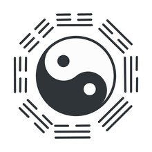 Yin Yang Symbol Of Harmony And Balance. Eps10 Vector Illustration.