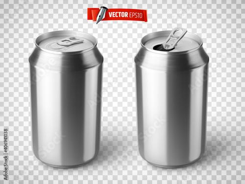 Canettes de soda vectorielles sur fond transparent © He2