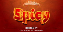 Editable Text Style Effect - Spicy Text Style Theme.