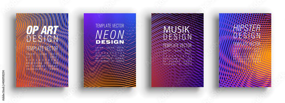 Fototapeta Minimal covers design. Colorful set. Color halftone gradients.