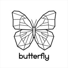 Vector Low Poly Butterfly Icon Logo Design