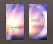Advertising flyer party design elements. Purple background with elegant graphic blur bright light circles