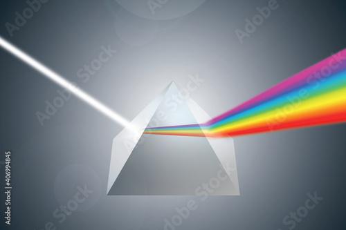 prism pryzmat tęcza Rainbow colorful światło lumen - fototapety na wymiar