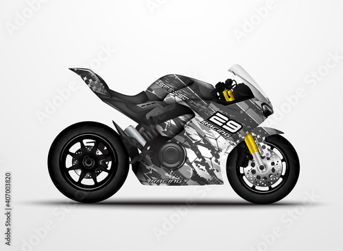 Fotografie, Obraz Motorcycle Sportbikes wrap decal and vinyl sticker design.