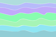 Abstract Background With Waves, Vector Drawing, Blue Gree Colors