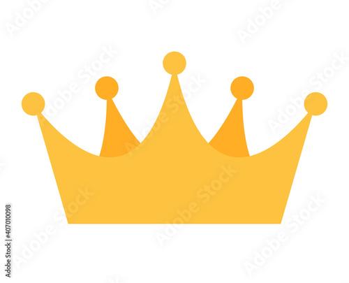Fotografie, Obraz Princess Golden Crown Icon Isolated on white Background Vector Illustration EPS1