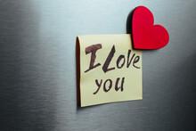 I Love You Fridge Sticker