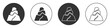 Black Rock stones icon isolated on white background. Circle button. Vector.