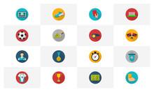 Soccer Flat Icon Logo Concepts Vector, Creative Design Template, Illustration