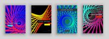 Colorful Futuristic Cover Set. Industrial Color Composition. Dynamic Forms. Futuristic Design Posters.