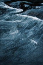 Detail Of Blurred Rapids On The River