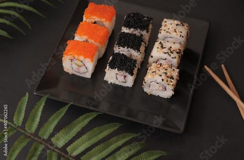 Fototapeta sushi on a plate obraz