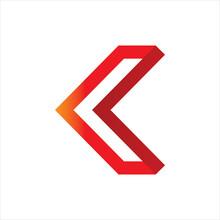 3d Red Arrow Solid Color Logo Design