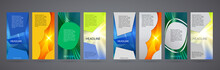 Design Elements Presentation Template. Set Vertical Banners Colors Background, Backdrop Glow Light Effect. Vector Illustration EPS 10 For Web Banner Template, Business Card Layout, Web Site Element