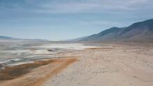 Aerial Fly Over California Salt Flat 2