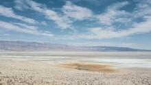 Aerial Fly Over California Salt Flat 4