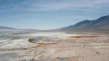 Aerial Fly Over California Salt Flat