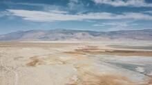 Aerial Fly Over California Salt Flat 3