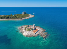 Aerial View Of Fort Arza In Montenegro