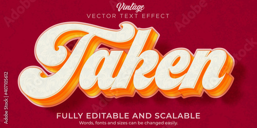 Photo Retro, vintage text effect, editable 70s and 80s text style.