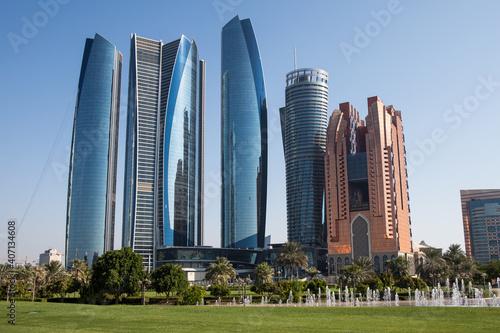 Obraz na płótnie Abu Dhabi city