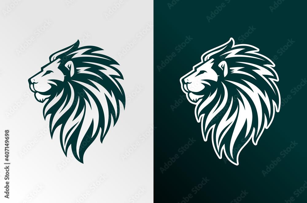 Fototapeta lion vector illustration logo