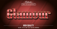 Editable Text Style Effect - Glamour Text Style Theme.