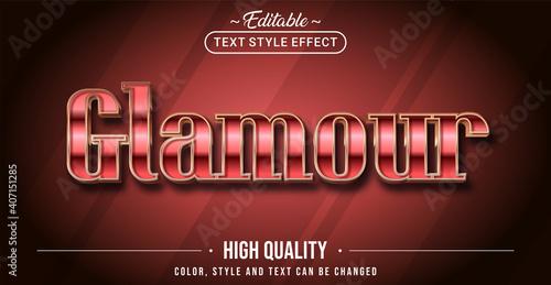 Fototapeta Editable text style effect - Glamour text style theme. obraz