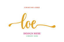 LOE Lettering Logo Is Simple, Easy To Understand And Authoritative