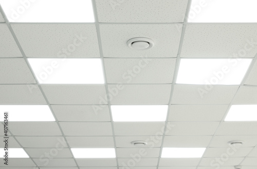 Tablou Canvas White ceiling with lighting in office room
