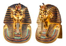 Isolated Egyptian Pharaoh Tutankhamun's Funeral Mask.