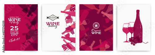 Photo background illustration for wine designs