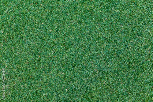 Green artificial grass floor texture and seamless background