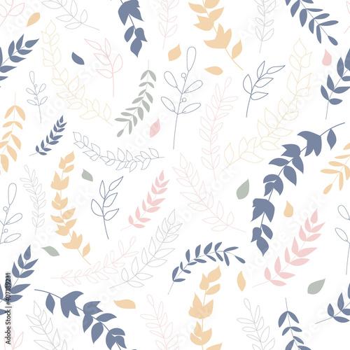 Tapety Boho   wzor-z-kolorowych-lisci-zimowa-atmosfera-sliczne-dzieci-przedszkole-wzor-powtorzyc-projekt-w-stylu-boho-do-nadruku-na-tkaninie-lub-papierze-druk-skandynawski